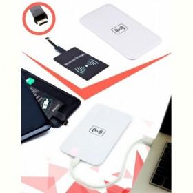 Аккумулятор беспроводной плоский для смартфонов с Micro USB разъемом, белый (Wireless portable accumulator (flat) Micro USB, white) Bradex
