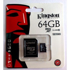 Карта памяти Kingston 64GB microSD Class 10