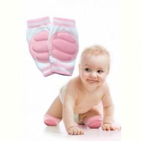 Наколенники детские для ползания розовые (baby thicken sponge crawl knee pads, pink) Bradex