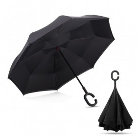 Зонт артикул D-14, черный (UnBrella) Bradex