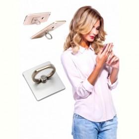 Кольцо-держатель и подставка для телефона и планшета, серебряное (Iring, silver) Bradex