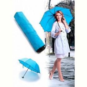 Зонт с проявляющимся рисунком, голубой (Umbrella with appeared pics when it is wet (blue)) Bradex