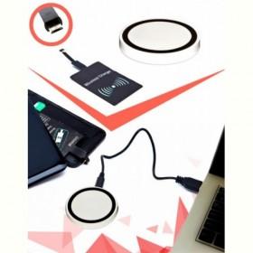 Аккумулятор беспроводной круглый для смартфонов с Micro USB разъемом, белый (Wireless portable accumulator (round) Micro USB, white) Bradex